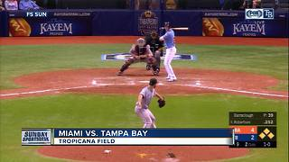 Daniel Robertson hits slam in 9th inning, Tampa Bay Rays beat Miami Marlins 6-4 - Video