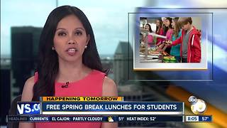Free Spring Break lunches for students - Video