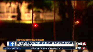 Edison and Ford Winter Estates Holiday nights - Video