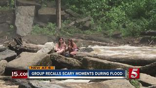 Mom, Daughters Wait On Rocks For An Hour Before Being Rescued - Video