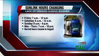 Downtown streetcar hours to change for summer - Video