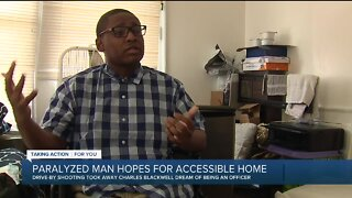 Man paralyzed in drive-by shooting hopes for accessible home