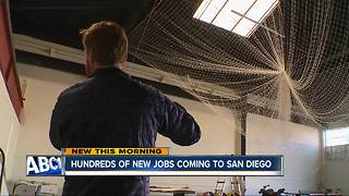 Hundreds of new jobs coming to San Diego - Video
