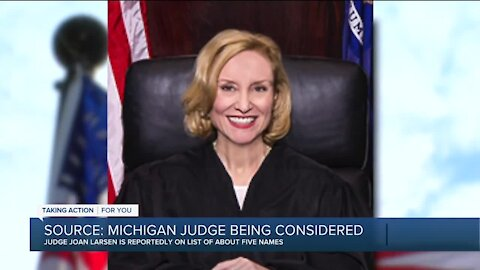 White House sources say President Trump is considering Michigan judge for the U.S. Supreme Court