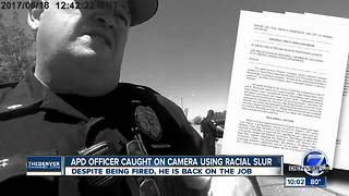 Aurora police chief fires officer after racial slur, but he's back on the job - Video