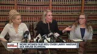More women sue MSU over Larry Nassar case - Video