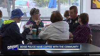Boise Police enjoy coffee with the community - Video