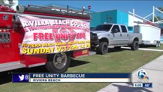 Free unity barbecue held in Riviera Beach on Sunday - Video