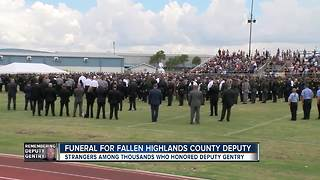 Strangers among thousands who honored Deputy Gentry - Video