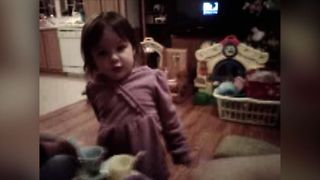 Adorable Toddler Demands A Diaper Change - Video