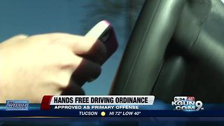 Tucson City Council approves changes to hands-free ordinance - Video
