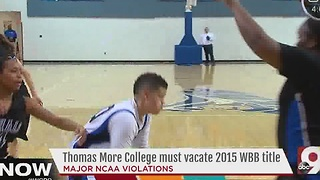 Thomas More College loses one of its women's basketball titles under NCAA penalties - Video