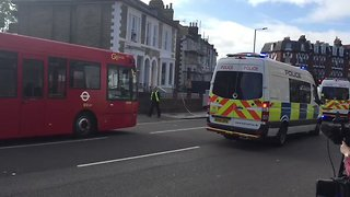 Police Close Off Streets Near Scene of London Train Blast - Video