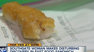 Southgate woman makes disturbing discovery in fast food sandwich - Video