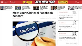 Meet your (Chinese) Facebook Censors China Nationals Run FB Ministry of Truth