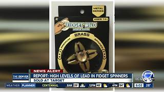 Consumer group finds high levels of lead in some fidget spinners - Video