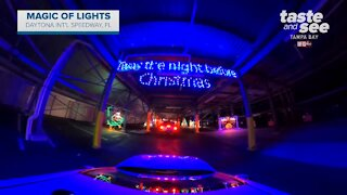 Florida's largest drive-thru Christmas light show opens at Daytona International Speedway