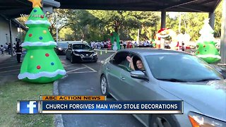 Decorations stolen from church