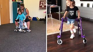 Brave Four-year-old Girl With Cerebral Palsy Defies Odds And Learns How To Walk