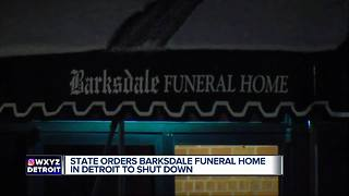 State of Michigan shuts down Detroit funeral home over deplorable conditions - Video