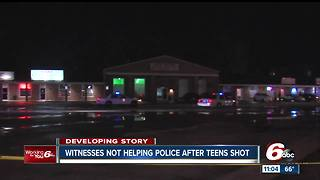 Witnesses of shooting won't talk to police following incident where teen were injured - Video