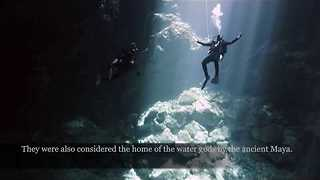 Divers Explore Astonishing Underwater Cavern in Riviera Maya, Mexico - Video