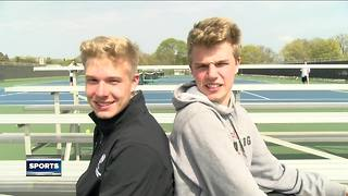 'Twintuition' takes over Cedarburg tennis courts - Video