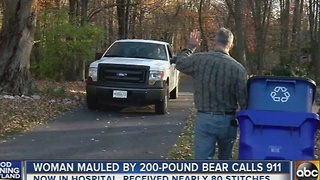 Woman mauled by 200-pound calls 911 - Video