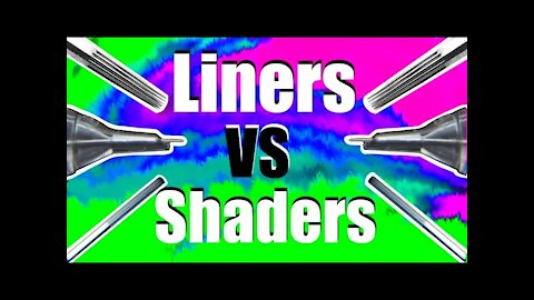✅How to Tattoo: 💥Round LINERS vs Round SHADERS 💥