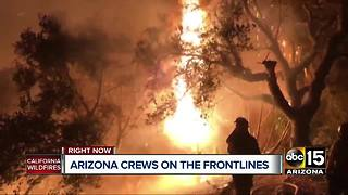 More than 150 Arizona firefighters on front lines of California wildfires - Video