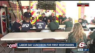 Labor Day luncheon delivered for first responders - Video