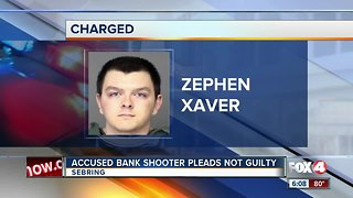 Bank shooter pleads not guilty
