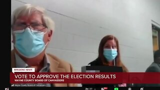 Vote to approve election results