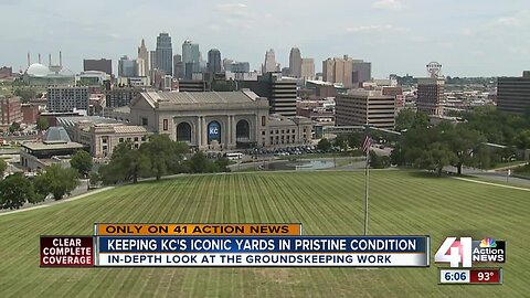 Here's what it takes to maintain two iconic KC lawns
