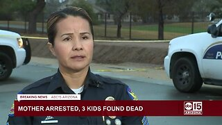 Police say mother arrested after three kids found dead in Phoenix home