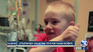 Eight-year-old former hospital patient now collecting toys for other patients - Video
