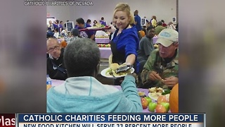Catholic Charities expands kitchen and pantry to feed more people - Video