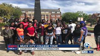 Glades Central Alum and Cowboys Wide Receiver Deonte Thompson hosts Muck City College Tour