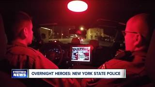 Overnight heroes: New York State Troopers in Niagara County - Video