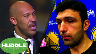 LaVar Ball BLASTS Female Anchor, Big Baller Brand is NOT for Women | Zaza Pachulia SUED? -The Huddle - Video