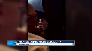 Man cited after disrupting ceremony at MATC
