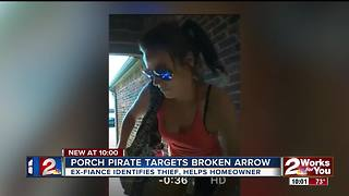 Strangers work together to identify BA porch pirate - Video