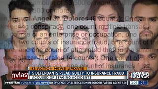 5 people plead guilty to insurance fraud - Video