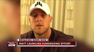 JJ Watt raises over $200K for Texas flood victims - Video