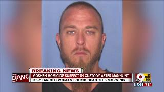 PD: Goshen homicide suspect in custody after hours-long manhunt - Video