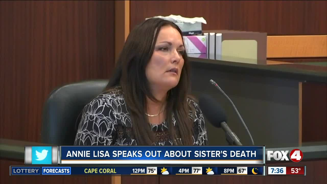 Annie Lisa speaks out about the death of her sister, Teresa Sievers