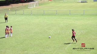 This 12 year old Brazilian footballer is going places - Video