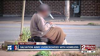 Overcrowding at Salvation Amry Shelter - Video