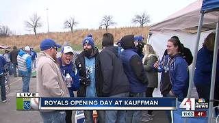 Fans tailgate ahead of Royals home opener