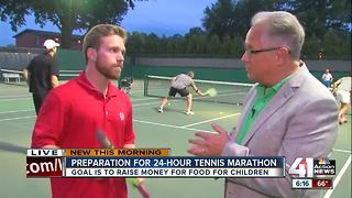Tennis marathon Friday set to raise money for Harvesters child hunger program - Video